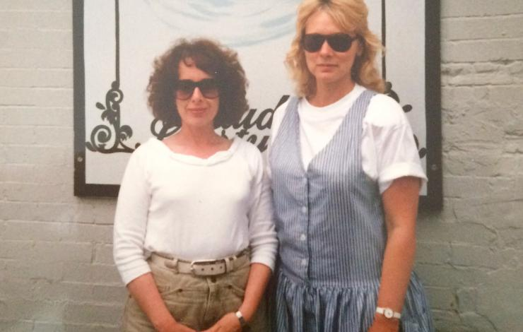 Me and Jean Hester in Nashville. I hired her as production manager and she was so fantastic she became co-producer. And my friend to this day.